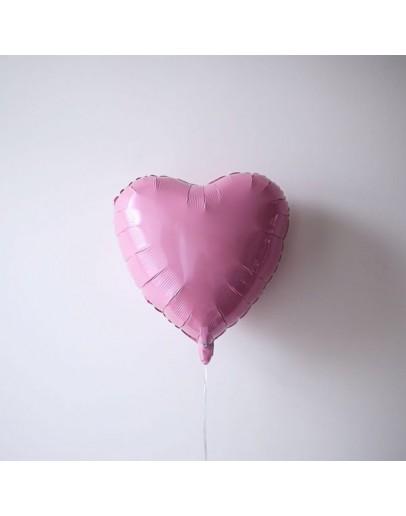 Фольгированное сердце P-Pink