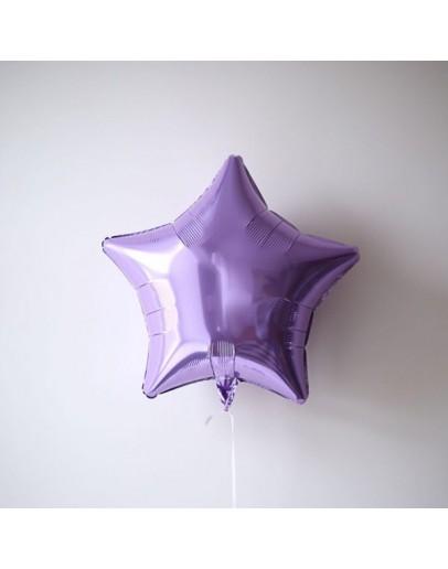 Фольгированная звездочка Lilac