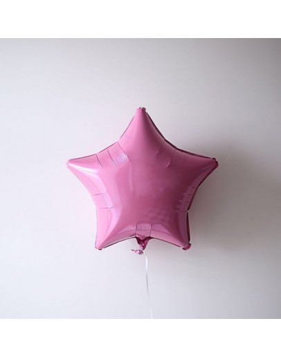 Фольгированная звездочка P-Pink