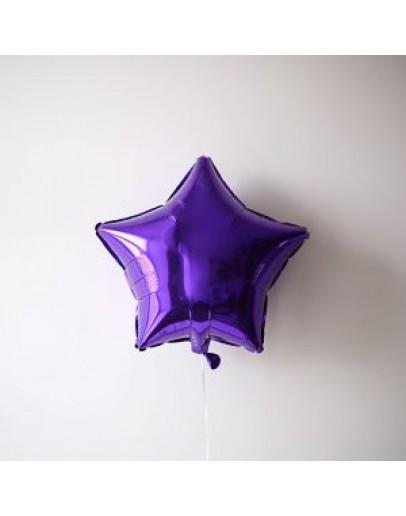 Фольгированная звездочка Purple
