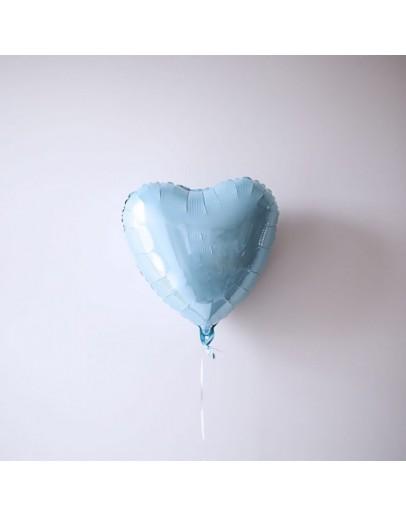 Фольгированное сердце Blue