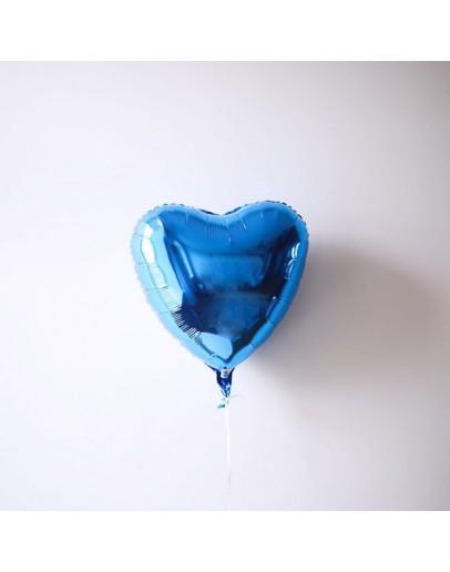 Фольгированное сердце D-Blue
