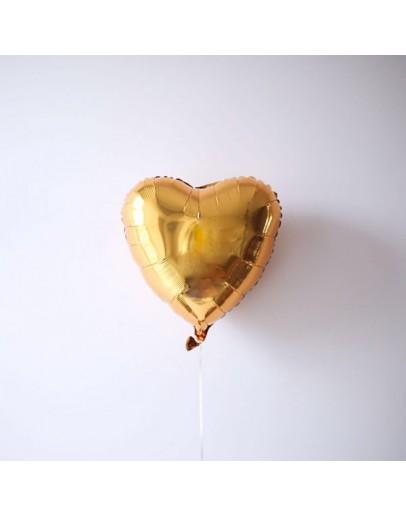 Фольгированное сердце Gold