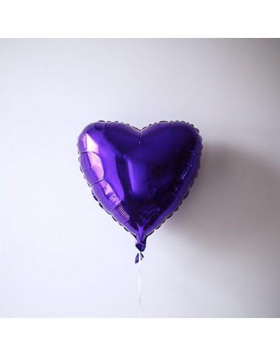 Фольгированное сердце Purple