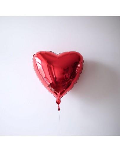 Фольгированное сердце Red