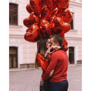 15 красных сердец
