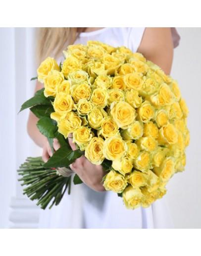 Желтые розы 101
