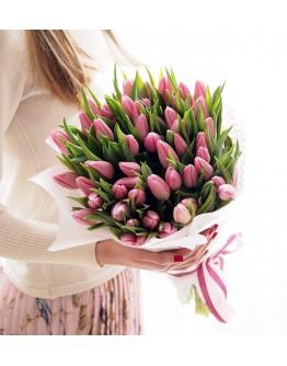 Розовые тюльпаны 51