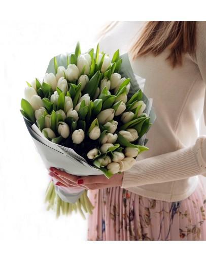 Белые тюльпаны 51