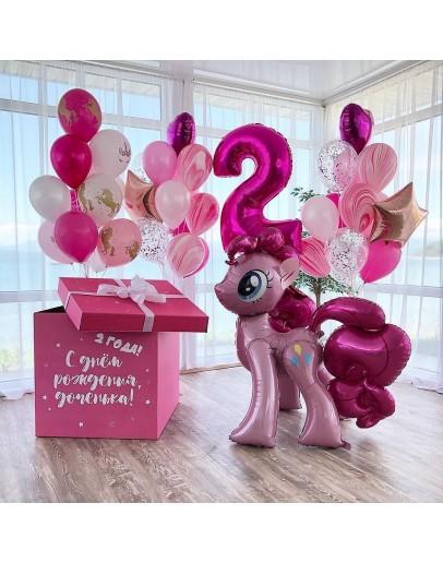 Коробка розовая - Пони